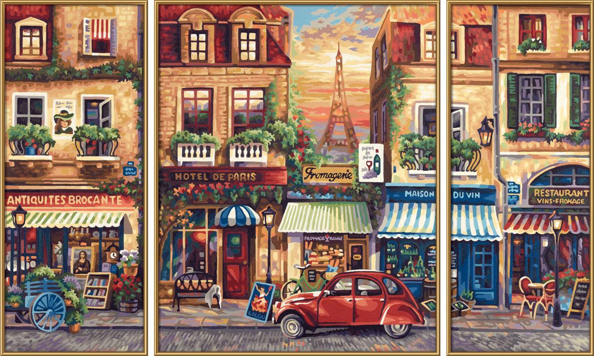 Schipper Картина по номерам Триптих Париж schipper schipper триптих картина по номерам летний отпуск 50х80