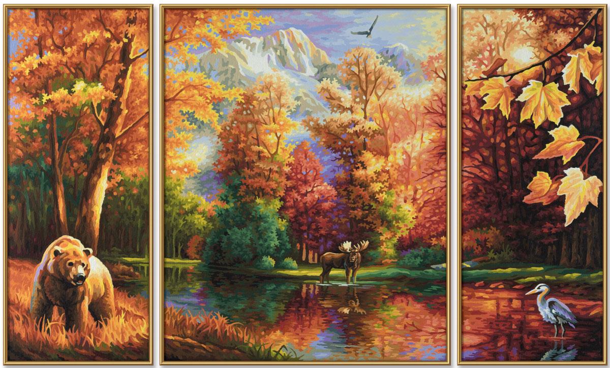 Schipper Картина по номерам Триптих Осень 20х50 см, 40х50 см, 20х50 см schipper картина триптих по номерам schipper осень 50х80 см