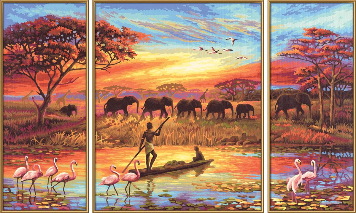 Schipper Картина по номерам Триптих Африка - магический континент schipper schipper триптих картина по номерам летний отпуск 50х80