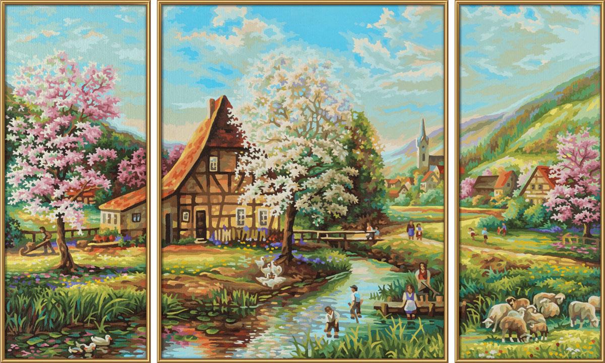 Schipper Картина по номерам Триптих Страна Идиллия schipper schipper триптих картина по номерам летний отпуск 50х80