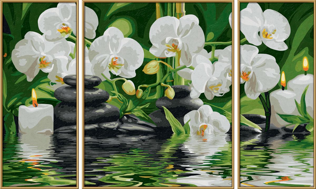Schipper Картина по номерам Триптих Цветы Wellness-Oase schipper картина триптих по номерам schipper осень 50х80 см