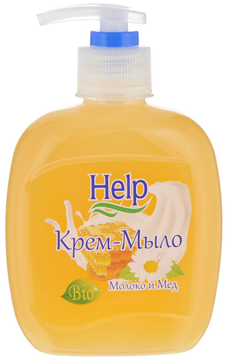 Жидкое мыло Help Молоко и мед, с дозатором, 300 г джонсонс беби мыло мед 100г