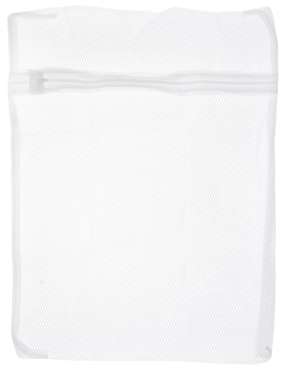 """Мешок для стирки белья """"Home Queen"""", цвет: белый, 40 х 50 см"""