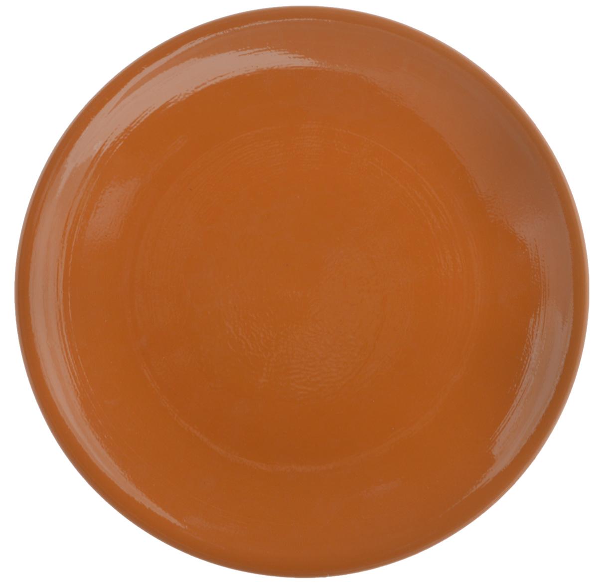 "Тарелка Борисовская керамика ""Cтандарт"", цвет: коричневый, диаметр 23 см"