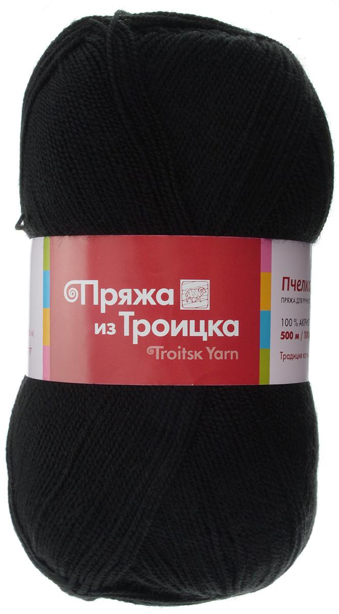"""Пряжа для вязания """"Пчелка"""", цвет: черный (0140), 500 м, 100 г, 10 шт"""