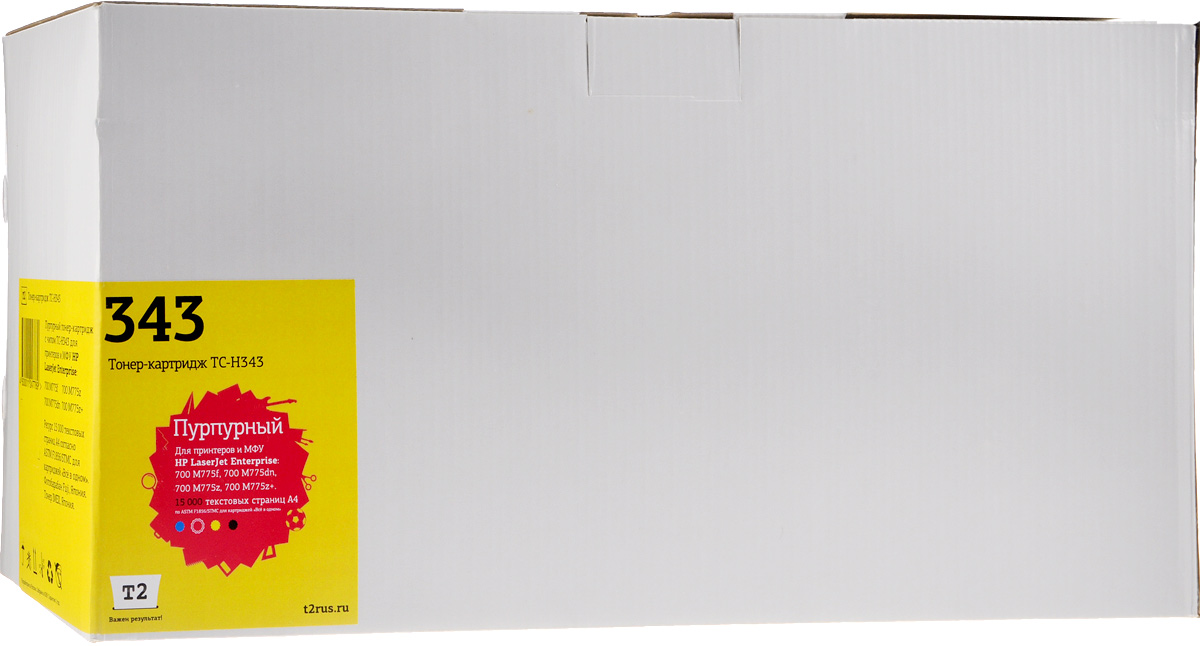 T2 TC-H343 (аналог CE343A), Magenta тонер-картридж для HP LJ Enterprise 700 M775dn/M775f/M775z/M775z+ цена 2017
