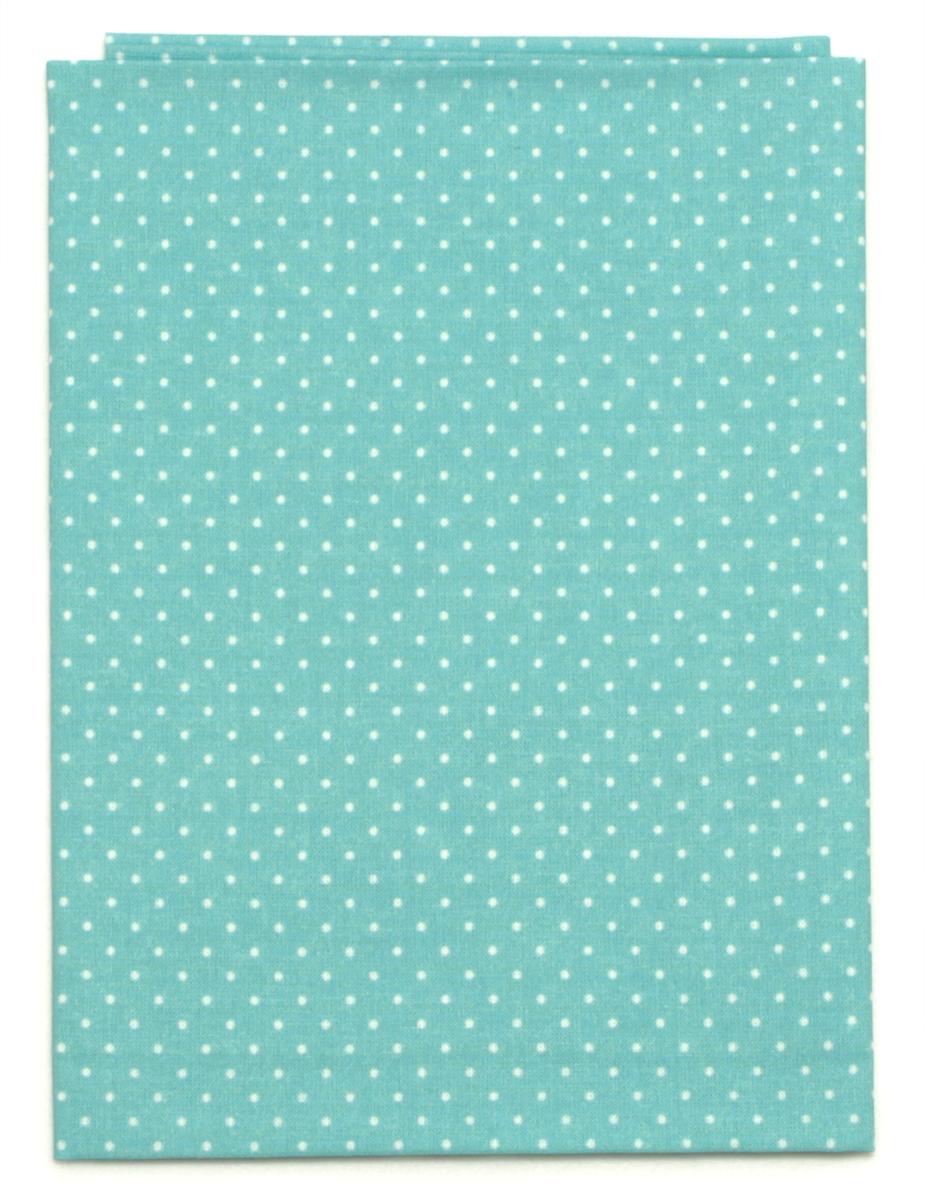 Ткань Кустарь Мелкий горошек, цвет: мятный, 48 х 50 см. AM555012 мятный горошек цв 1040