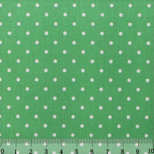 Ткань Кустарь Горошек 2 мм, цвет: светло-зеленый, 48 х 50 см. AM556007 сколько ткани нужно для пошива 2 х спального комплекта