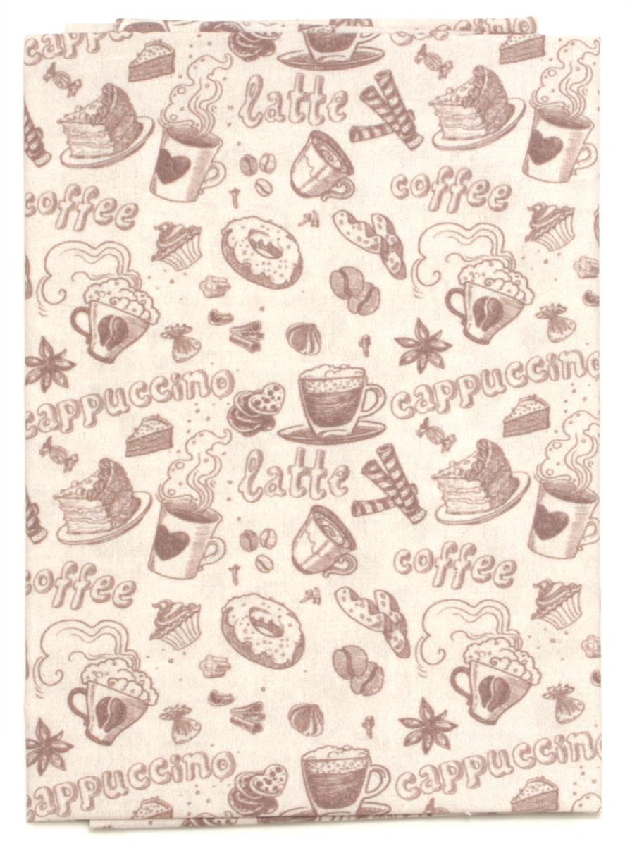 Ткань Кустарь Винтажный кофе №2, 48 х 50 см. AM596002 сколько ткани нужно для пошива 2 х спального комплекта