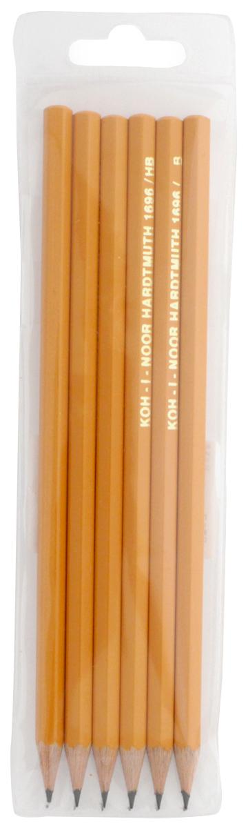 Koh-i-Noor Набор чернографитовых карандашей, НВ, НВ, B, H, 2Н, 2В, 6 шт. 126737 цены онлайн