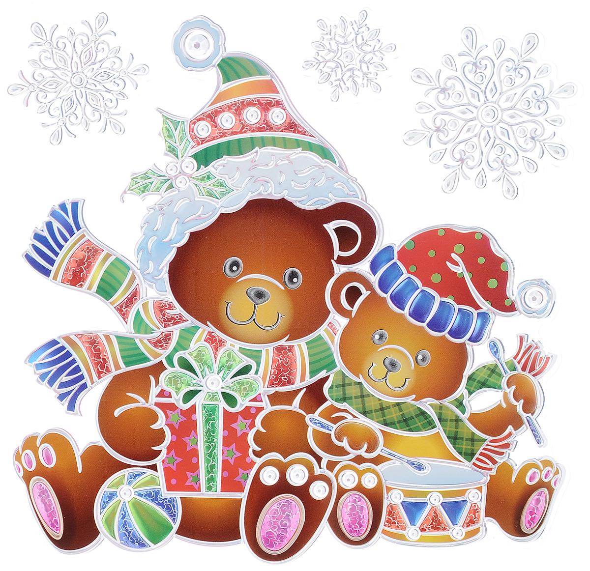 Украшение новогоднее оконное Winter Wings Мишки, 4 шт украшение новогоднее оконное winter wings новогодние герои 5 шт n09356 ангелы