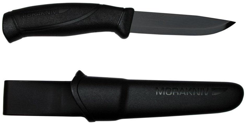 Нож туристический Morakniv Companion Black Blade, цвет: черный, длина лезвия 10,4 см нож туристический morakniv 510 цвет черный стальной длина лезвия 9 5 см