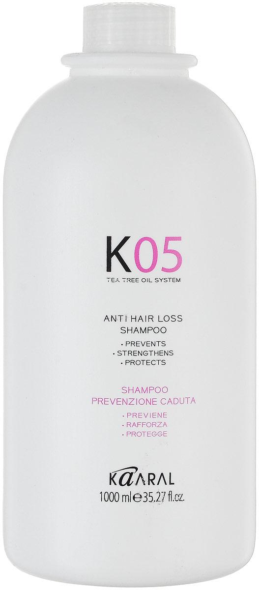Kaaral Шампунь против выпадения волос К05 Shampoo Anticaduta, 1000 мл шампунь для профилактики выпадения волос anti hair loss shampoo 250 мл kaaral к05