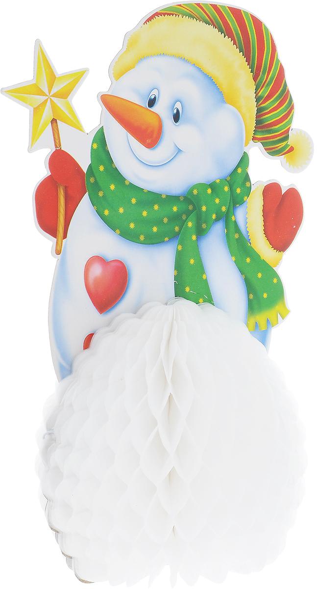 Украшение новогоднее подвесное Winter Wings Снеговик, 15,5 х 25 см подсвечник winter wings снеговик с цветком 11х7х11 см n160491
