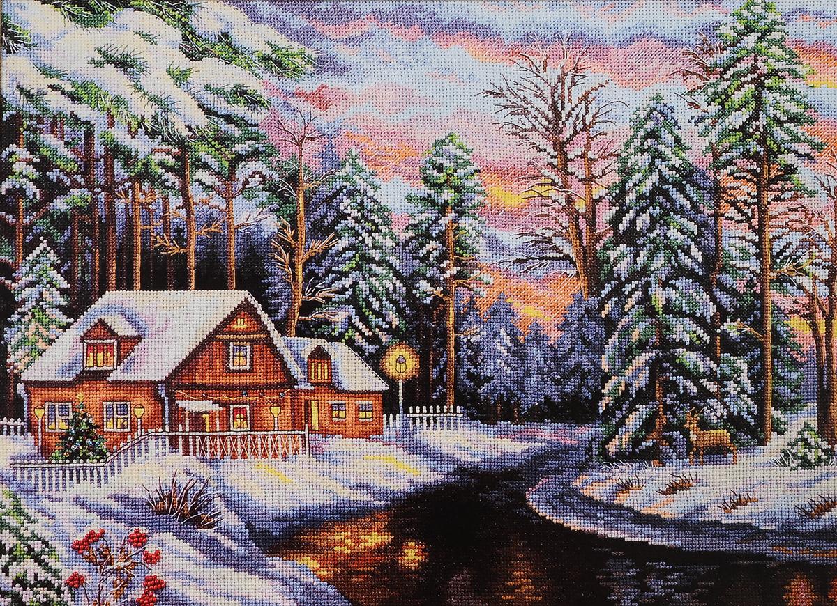 Картинки вышивки крестом зима