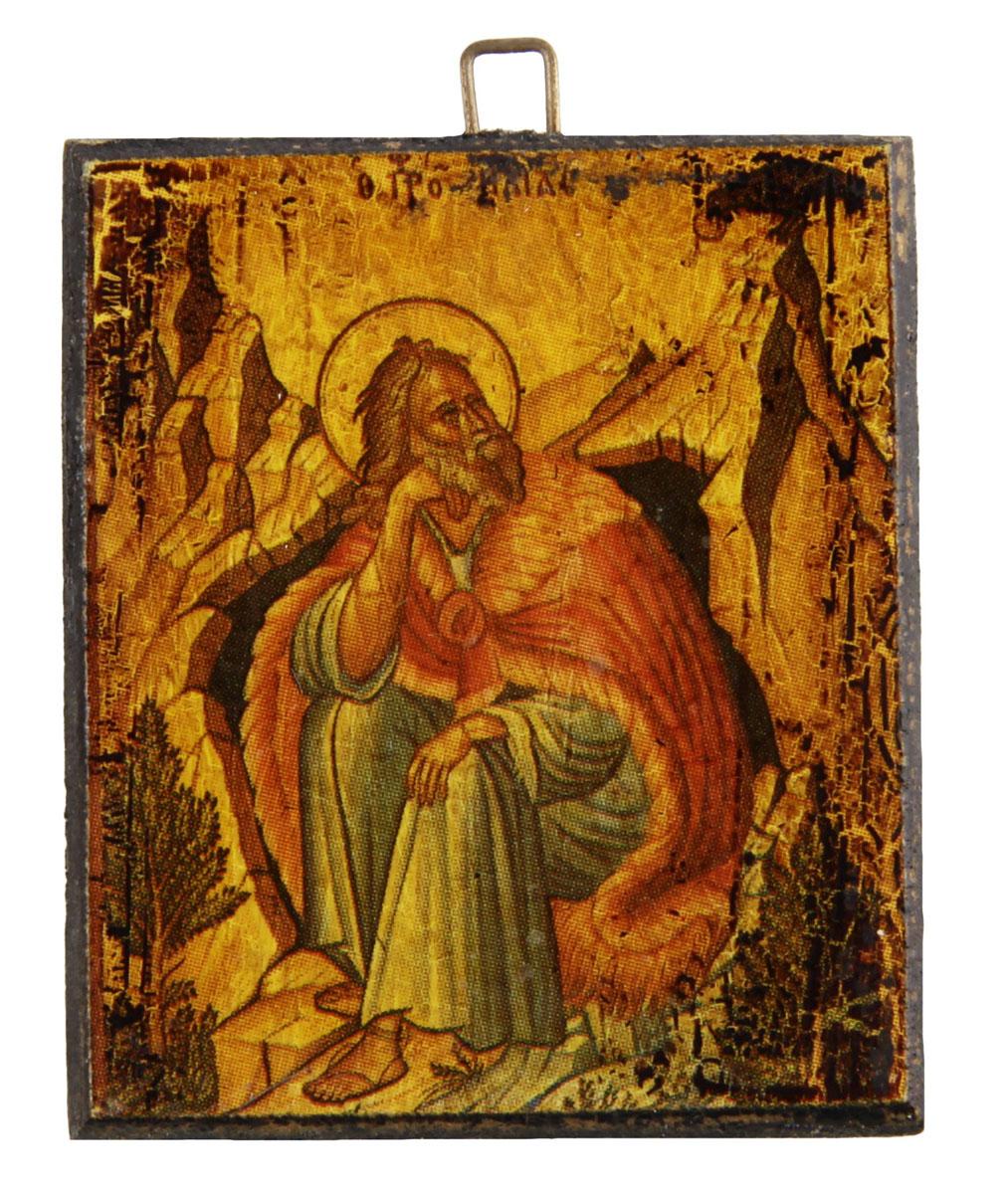 Икона-образок Пророк Илия. Дерево, роспись, лак. Греция, вторая половина XX века икона 5 апостолов