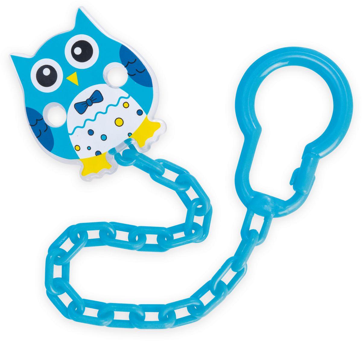 Canpol Babies Клипса-держатель для пустышки Сова цвет синий canpol babies клипса держатель для пустышки самолетик