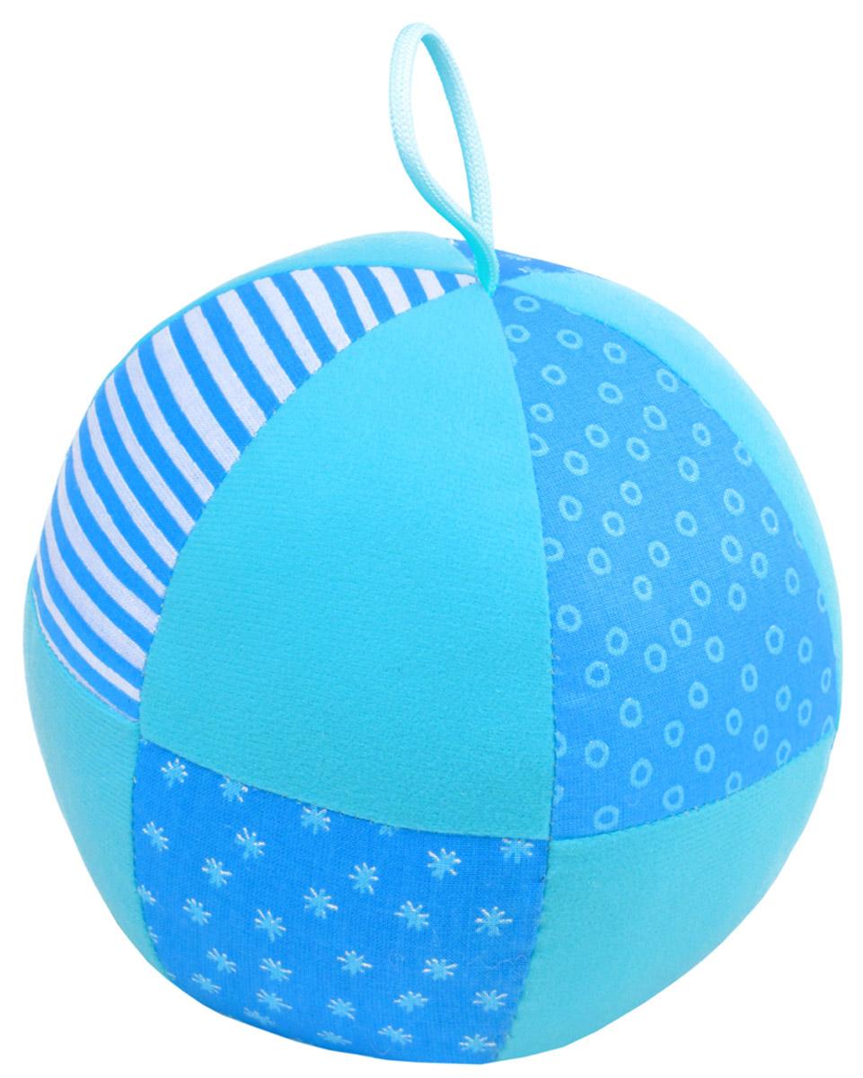 Мякиши Мягкая развивающая игрушка Веселый мячик цвет голубой цена