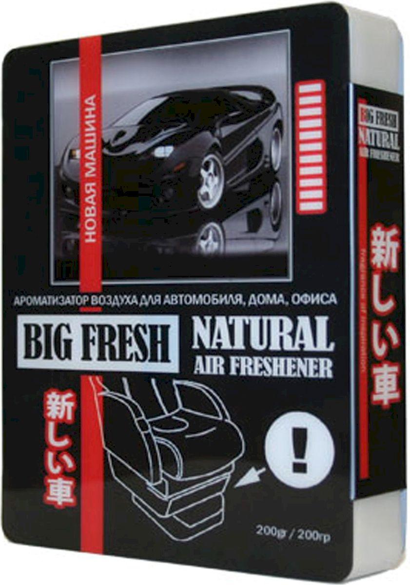 Ароматизатор автомобильный FKVJP Big Fresh. Новая машина, гелевый, под сидение, 200 г ароматизатор автомобильный fkvjp deo fresh новая машина спрей 50 мл