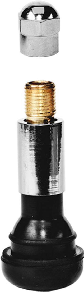 Вентиль для бескамерных шин Главдор, 14, цвет: серебристый, черный, 4 шт