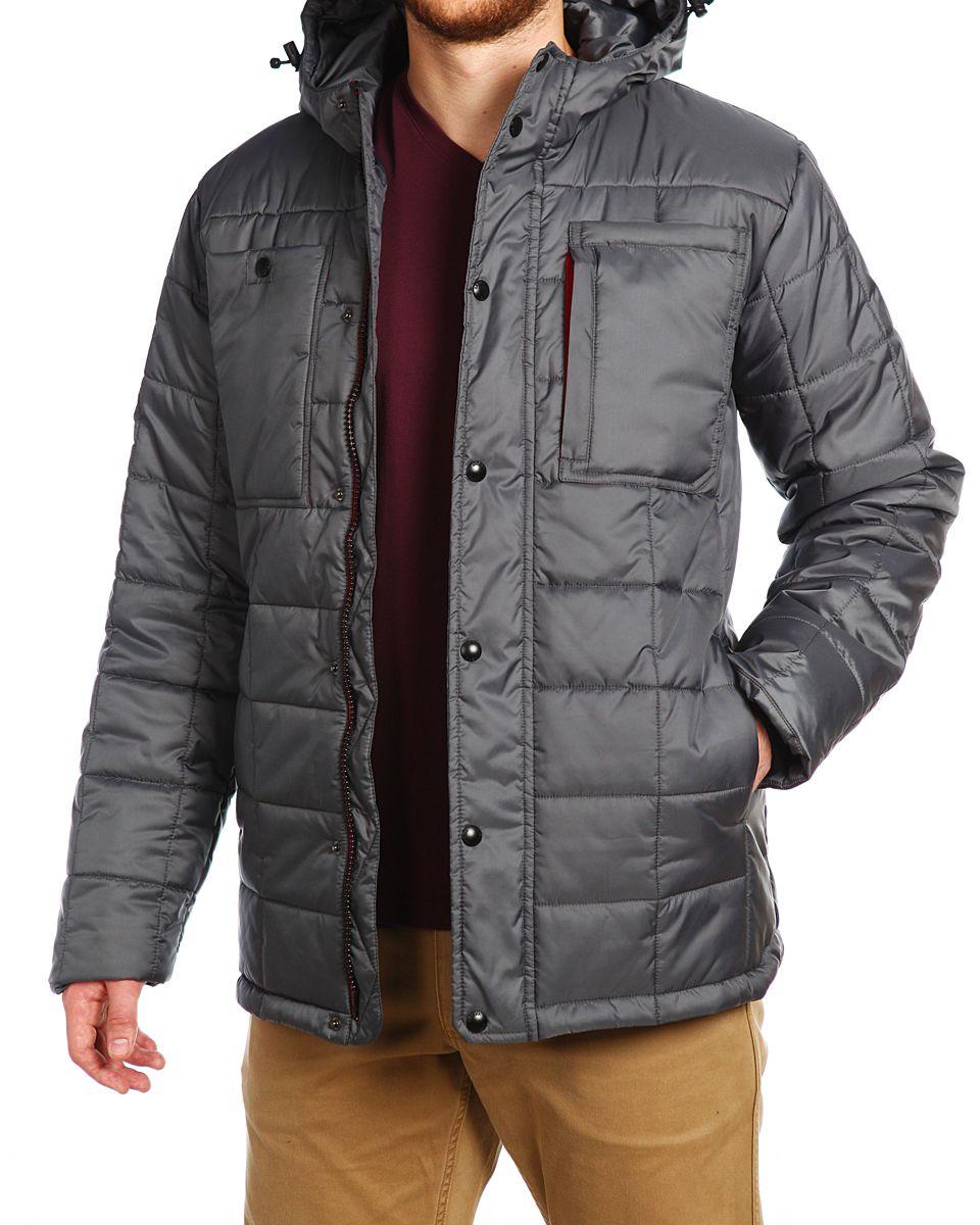8721ecba Мужская куртка Xaska изготовлена из высококачественного полиэстера. В  качестве утеплителя используется полиэстер. Куртка с несъемным капюшоном  застегивается ...