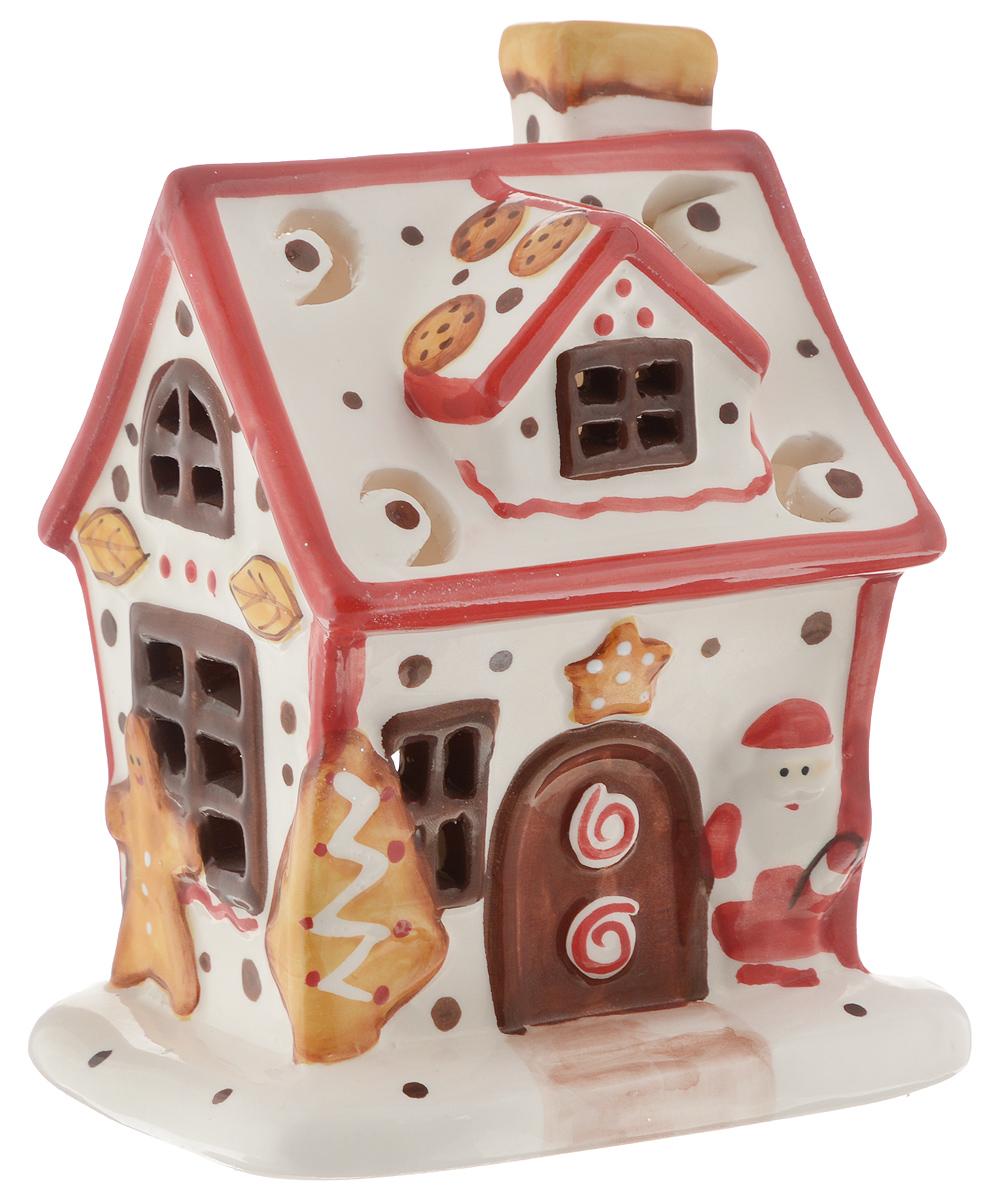 купить Подсвечник новогодний Winter Wings Пряничный дом, со свечой, 15 х 10 х 12 см дешево