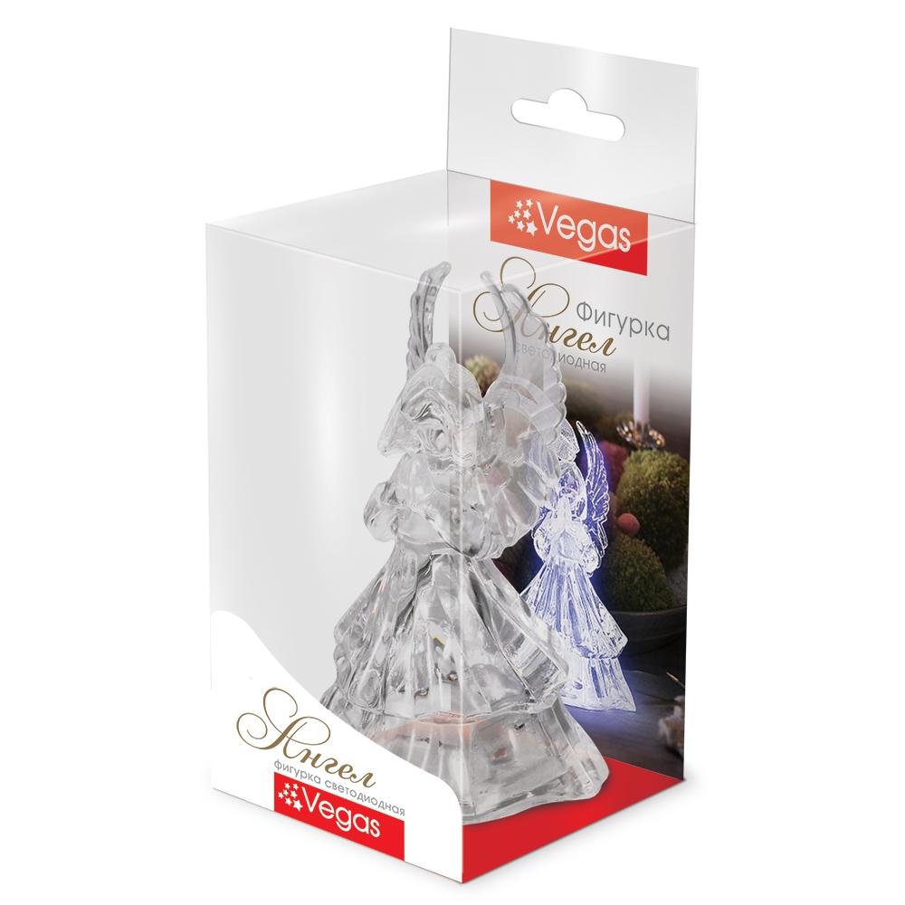 """Фигура светодиодная Vegas """"Ангел"""", 5 х 9,5 см, свет: мультиколор. 55053"""