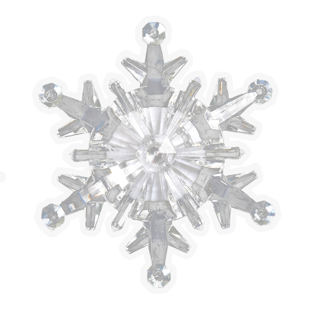 """Фигура светодиодная Vegas """"Снежинка"""", на присоске, 9,5 х 9,5 см, свет: мультиколор. 55055"""