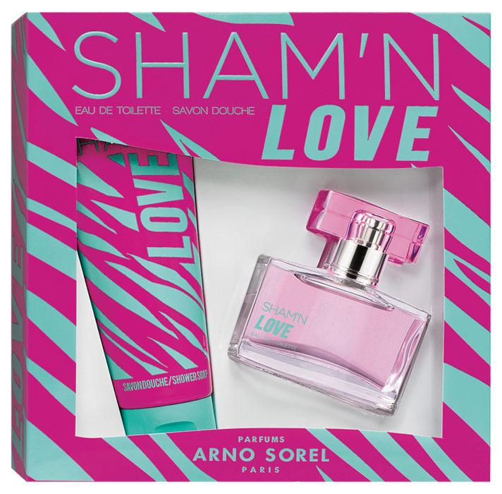 Парфюмированный набор Corania Sham'n Love женский: Туалетная вода, 50мл, гель для душа 100мл парфюмированный гель для душа истинный эликсир