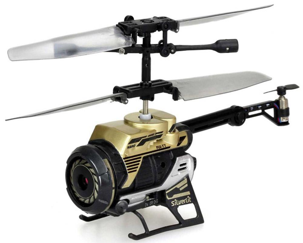 Silverlit Вертолет на радиоуправлении Spy Cam Nano silverlit silverlit вертолет на радиоуправлении 3 канальный spy cam nano с камерой в ассортименте