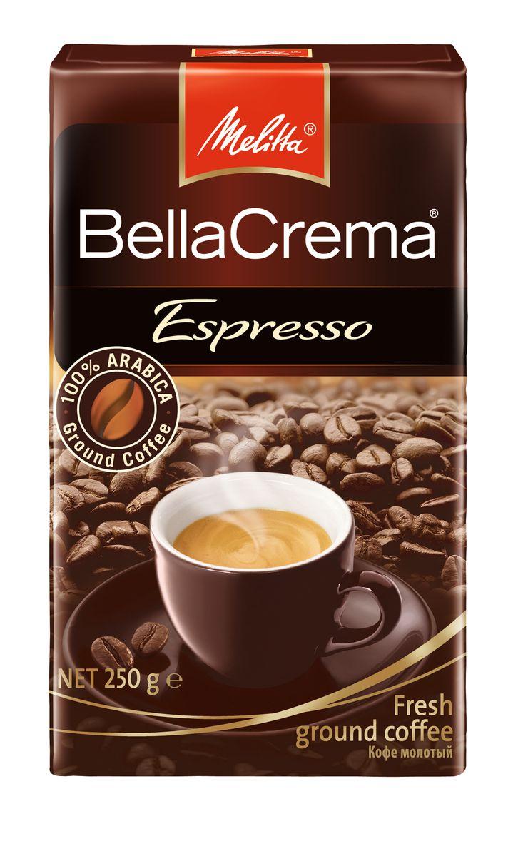 Melitta BellaCrema Espresso кофе молотый, 250 г melitta кофе bellacrema espresso молотый со стеклянной сахарницей в подарок 250 г
