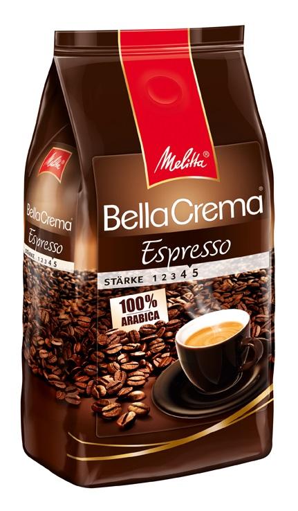 Melitta BellaCrema Espresso кофе в зернах, 1 кг melitta кофе bellacrema espresso молотый со стеклянной сахарницей в подарок 250 г