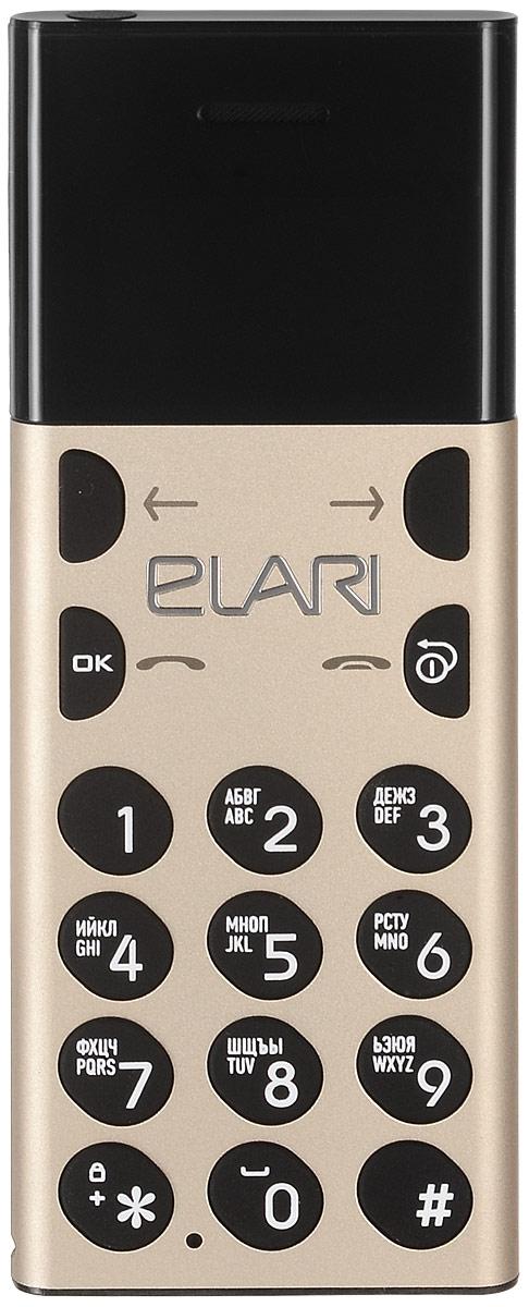 Мобильный телефон Elari NanoPhone, золотой телефон