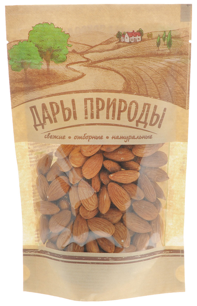Дары Природы миндаль без обжарки, 150 г дары природы кайса абрикос сушеный 150 г