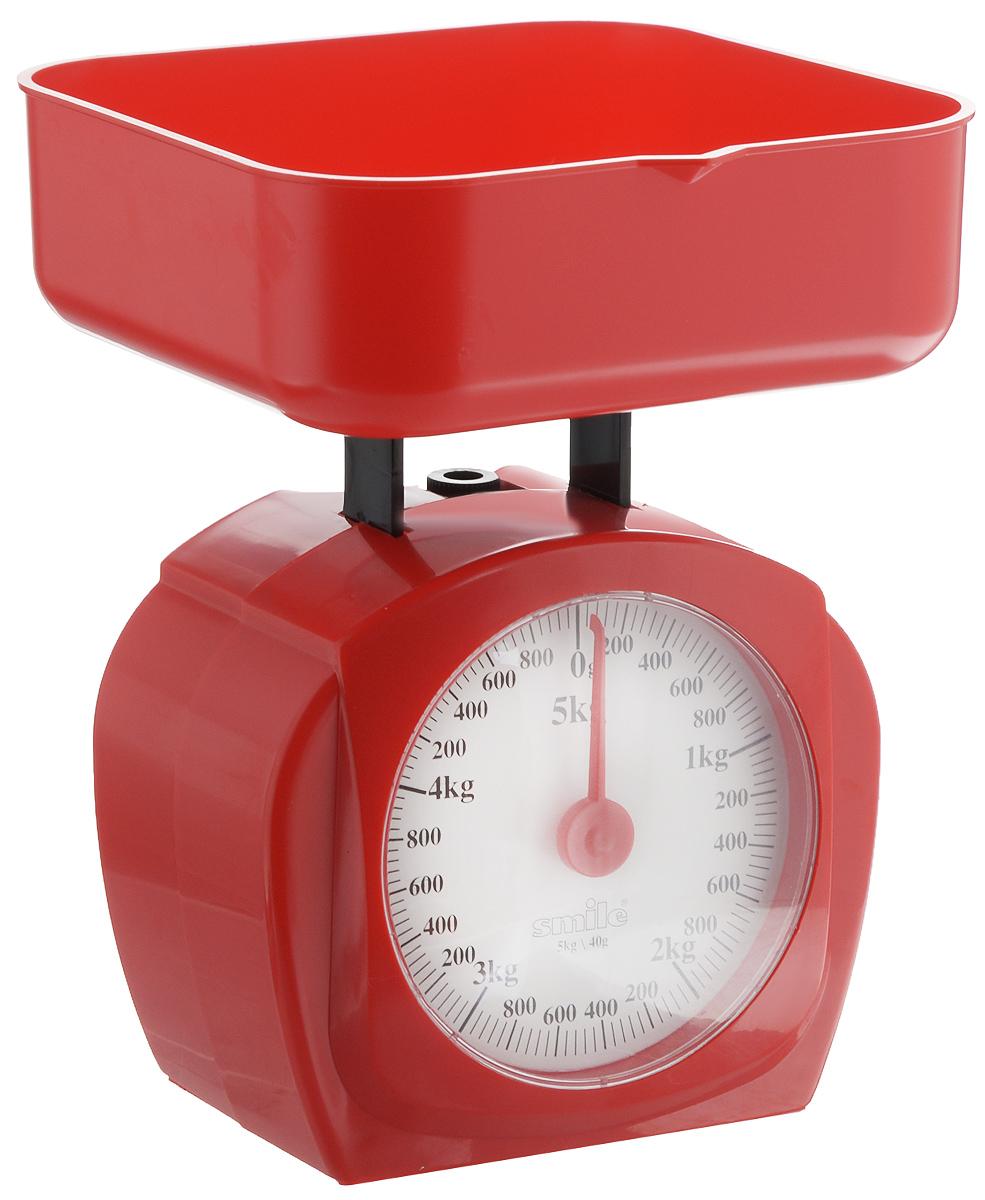 Весы кухонные Smile, KS 3207 цвет: красный, белый весы кухонные smile kse 3262 рисунок