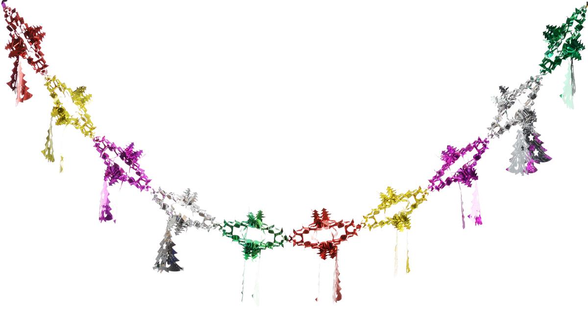 """Гирлянда новогодняя Magic Time """"Елочки со снежинкой цветные"""", 35 x 21 x 200 см"""