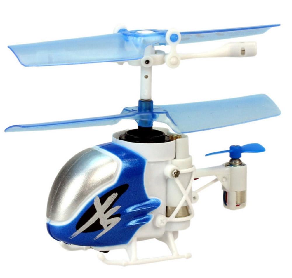 Silverlit Вертолет на инфракрасном управлении Nano Falcon XS цвет синий белый silverlit silverlit вертолет на радиоуправлении 3 канальный spy cam nano с камерой в ассортименте