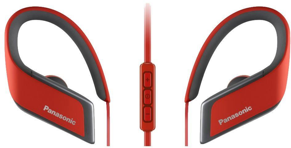 Беспроводные наушники Panasonic RP-BTS30GC-R, красный наушники беспроводные panasonic rp bts35gc a с микрофоном