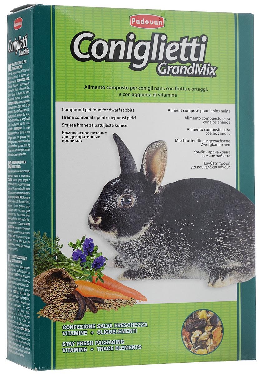 Корм для кроликов Padovan Grandmix Coniglietti, 850 г padovan корм padovan lino для птиц зёрна льна 1 кг