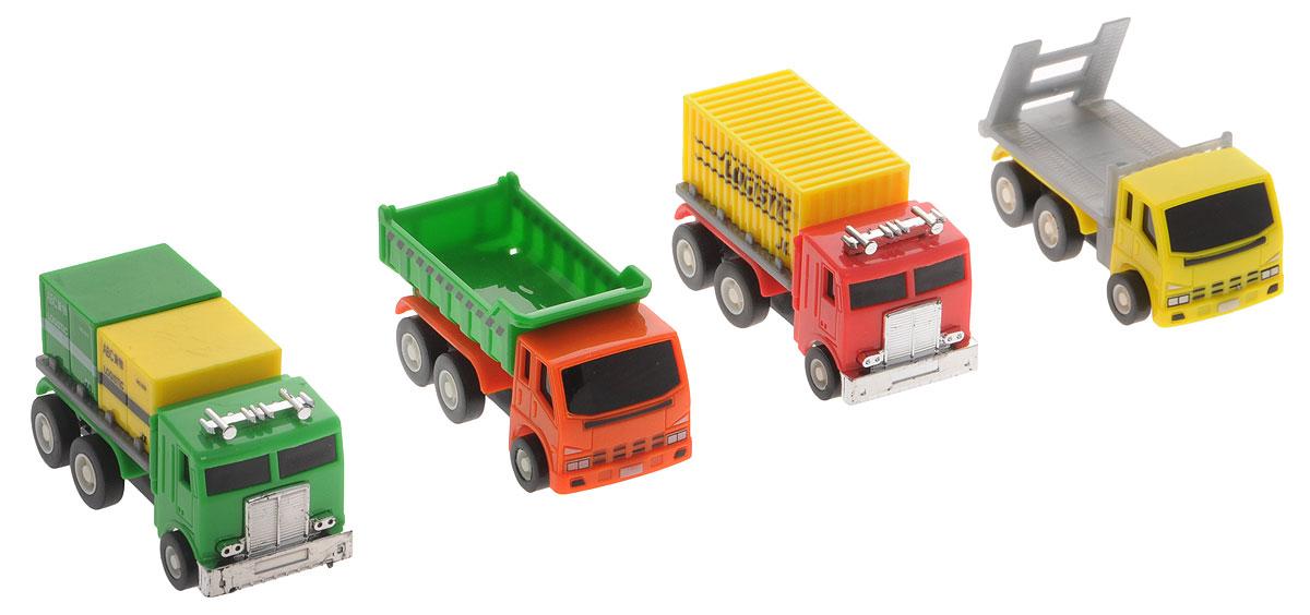 Дрофа-Медиа Набор грузовых машинок 4 шт дрофа медиа набор инерционных машинок городские автомобили 8 шт