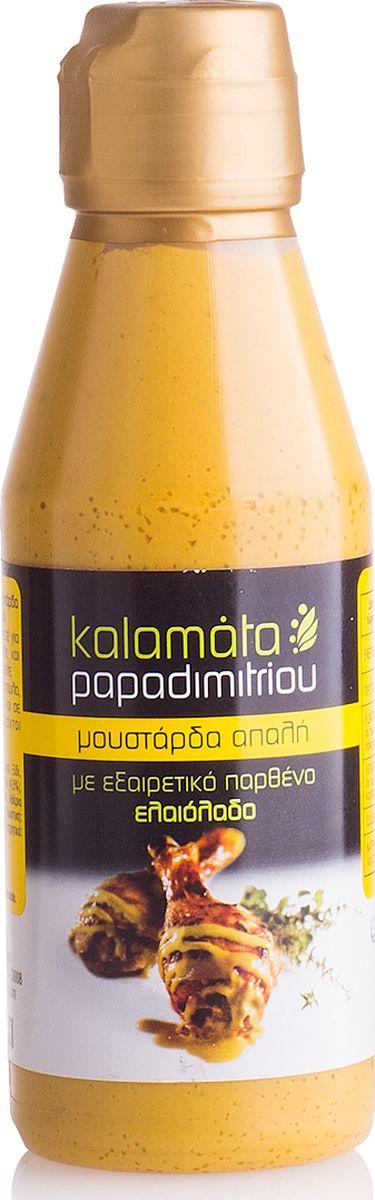 Papadimitriou горчица мягкая с оливковым маслом, 200 г12.0019Мягкая горчица с оливковым маслом в удобной упаковке. Kalamata Papadimitriou является ведущим брендом соусов и уксусов в Греции и экспортируется в разные страны по всему миру.