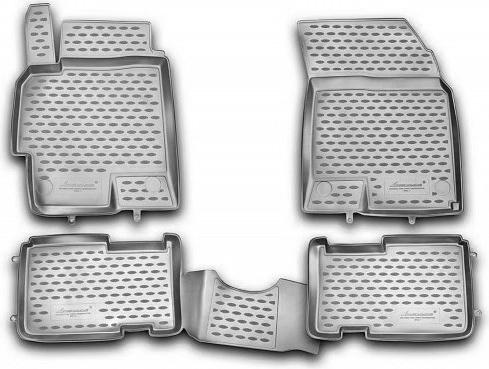 Набор автомобильных ковриков Element для Hyundai Solaris 2010-2014, в салон, цвет: серый, 4 шт недорго, оригинальная цена