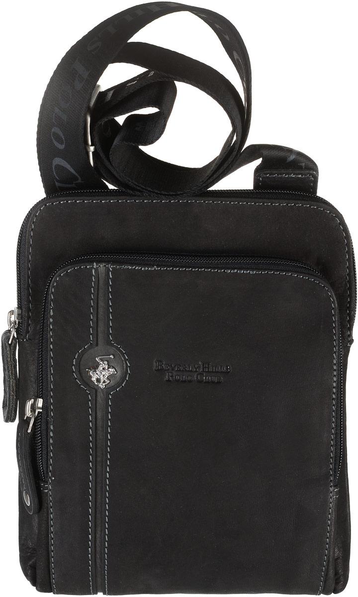 f2d9efdb4431 Сумка мужская Beverly Hills Polo Club, цвет: черный. 380 — купить в интернет -магазине OZON.ru с быстрой доставкой
