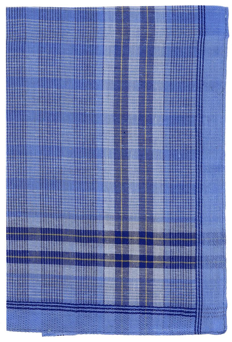 Платок носовой мужской Zlata Korunka, цвет: темно-голубой. 45495. Размер 27 х 27 см платок 95 95 см 100platkov цвет молочный