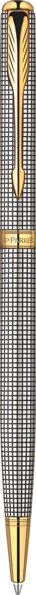 Parker Ручка шариковая Sonnet SLIM Cisele GT черная ручка шариковая parker паркер sonnet slim k427 s0809150 stainless steel gt m черные чернила подар кор