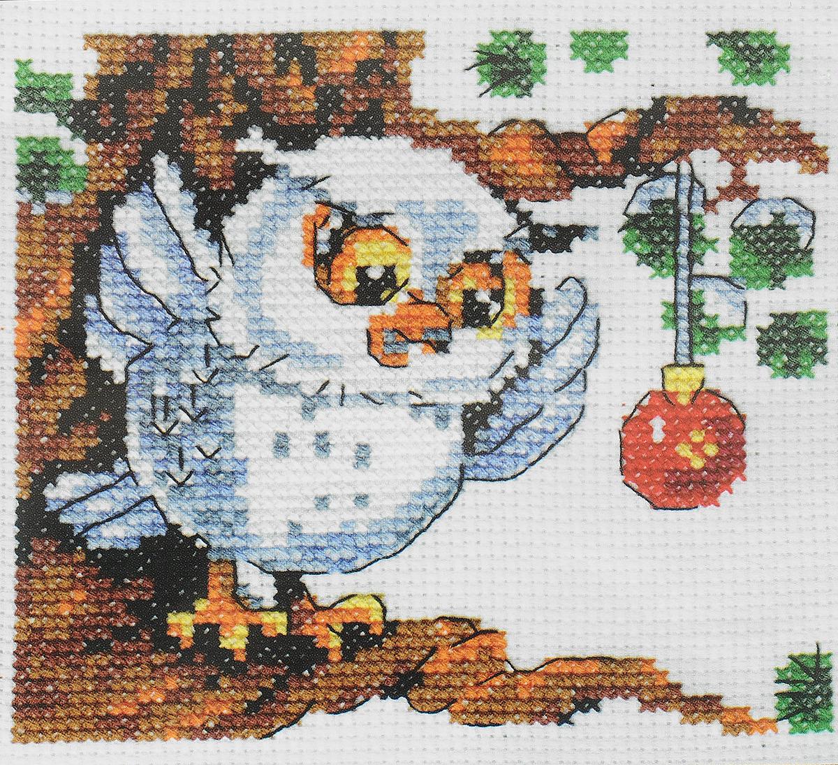 Набор для вышивания крестом Кларт Сова и шарик, 11 x 10 см набор для вышивания крестом кларт лицо птицы 8 x 13 см