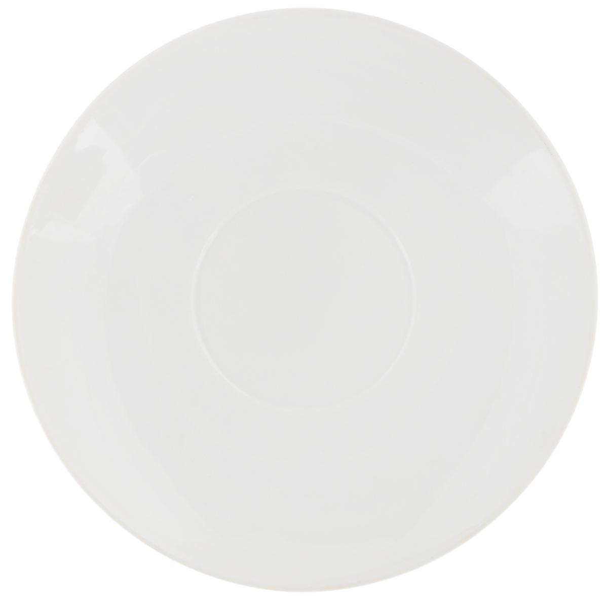 Блюдце Фарфор Вербилок, цвет: белый, диаметр 11 см калинов лимонад сказочный ключик 12 шт по 0 5 л