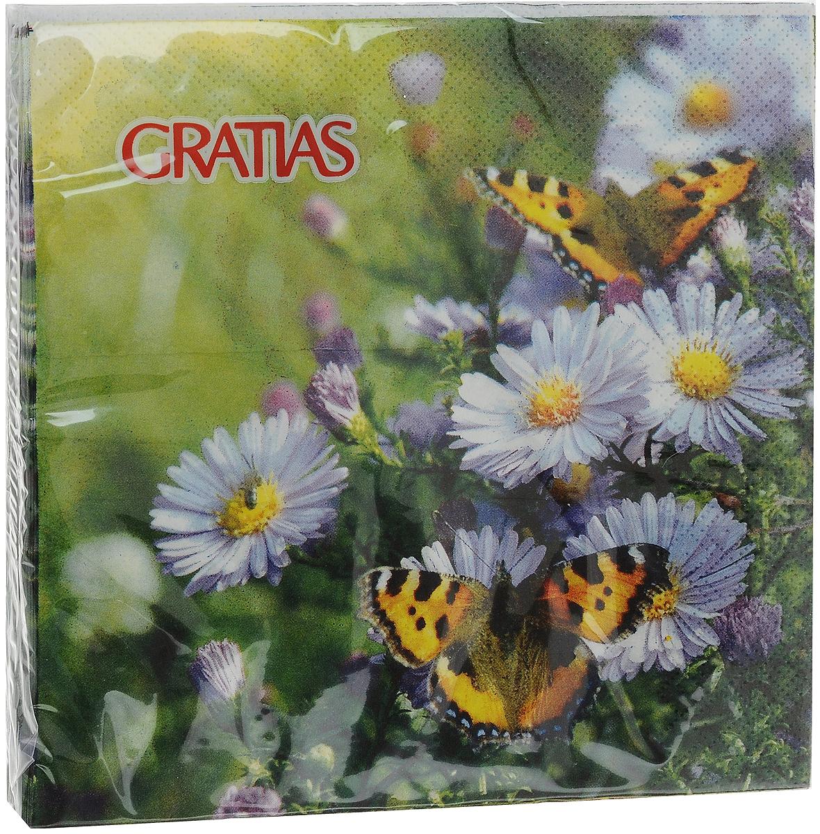 Салфетки бумажные Gratias Шоколадница, трехслойные, 33 х 33 см, 20 шт салфетки бумажные gratias мишутка трехслойные 33 х 33 см 20 шт