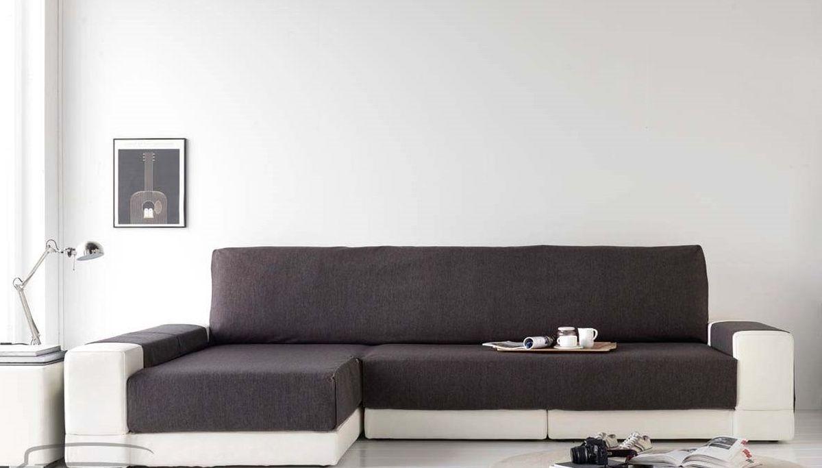Чехол на диван Медежда Иден, угловой, левый угол, цвет: темно-серый
