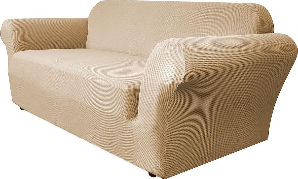 Чехол на двухместный диван Медежда Бирмингем, цвет: бежевый чехол на двухместный диван медежда лидс цвет бежевый